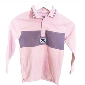 VERTBAUDET Rugby Polo Top/Shirt Salmon Pink Boy 8Y